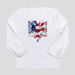 Albanian American Eagle Long Sleeve T-Shirt