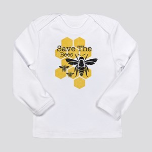 Honeycomb Save The Bees Long Sleeve Infant T-Shirt