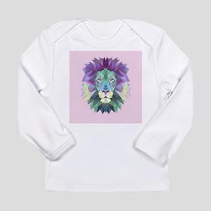 Triangle Colorful Lion Head Long Sleeve T-Shirt