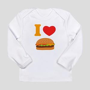 I Love Cheeseburgers Long Sleeve Infant T-Shirt
