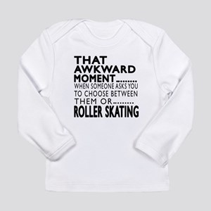 Roller Skating Awkward Long Sleeve Infant T-Shirt