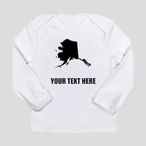 Custom Alaska Silhouette Long Sleeve T-Shirt
