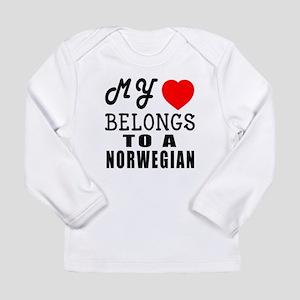 I Love Norwegian Long Sleeve Infant T-Shirt