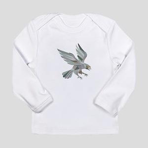Peregrine Falcon Swooping Grey Low Polygon Long Sl