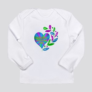 Quilting Happy Heart Long Sleeve Infant T-Shirt