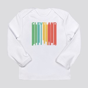 Vintage Cleveland Cityscape Long Sleeve T-Shirt