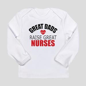 Dad of Nurse Long Sleeve Infant T-Shirt