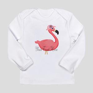 Pink Flamingo Lady Long Sleeve T-Shirt