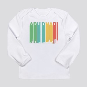Retro Abu Dhabi Skyline Long Sleeve T-Shirt
