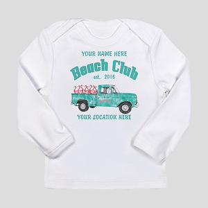 Flamingo Beach Club Long Sleeve T-Shirt