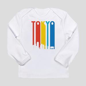 Retro Tokyo Skyline Long Sleeve T-Shirt