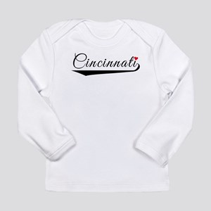 Cincinnati Heart Logo Long Sleeve T-Shirt