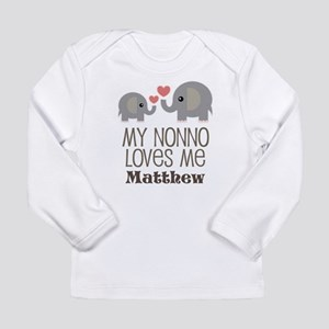 My Nonno Loves Me Personalized Long Sleeve T-Shirt