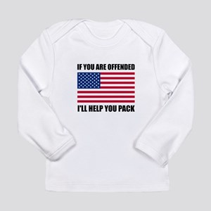 Offended USA Flag Help Pack Long Sleeve T-Shirt