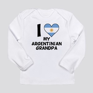 I Heart My Argentinian Grandpa Long Sleeve T-Shirt