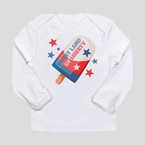 Ice Cream Pop 4th Long Sleeve Infant T-Shirt