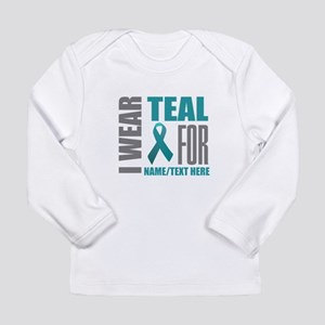Teal Awareness Ribbon C Long Sleeve Infant T-Shirt