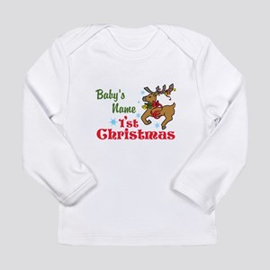 Personalize Babys 1st Christmas Long Sleeve T-Shir