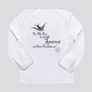 His Eye Is On The Sparrow Large Long Sleeve T-Shir