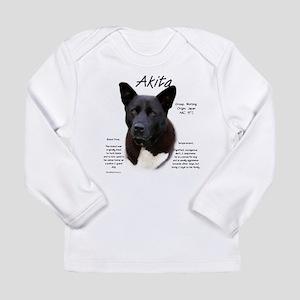 Akita (black) Long Sleeve Infant T-Shirt