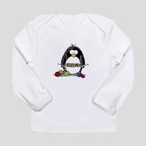 Knitting Penguin Long Sleeve Infant T-Shirt