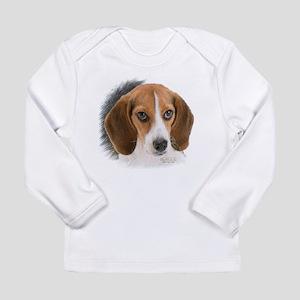 Beagle Close Up Long Sleeve Infant T-Shirt