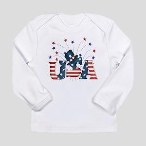 USA Fireworks Long Sleeve Infant T-Shirt