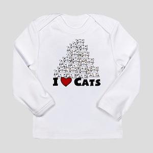 I Love CATS CUTE Long Sleeve T-Shirt