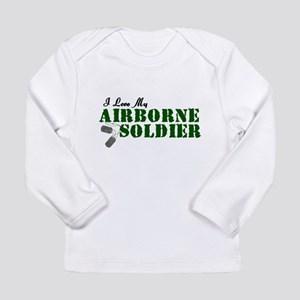 I Love My Airborne Soldier Long Sleeve Infant T-Sh