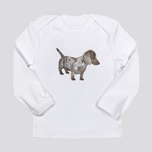 Speckled Dachshund Dog Long Sleeve Infant T-Shirt