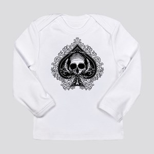 Skull Ace Of Spades Long Sleeve Infant T-Shirt
