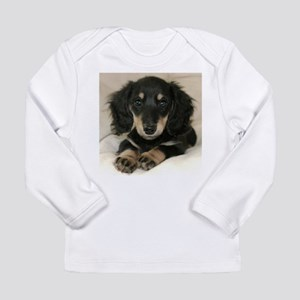 Long Haired Puppy Long Sleeve Infant T-Shirt