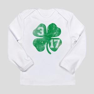 St Patricks Day 3/17 Shamrock Long Sleeve Infant T