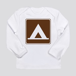 Camping Tent Sign Long Sleeve Infant T-Shirt