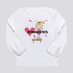 Blond Girl Gymnast Long Sleeve Infant T-Shirt