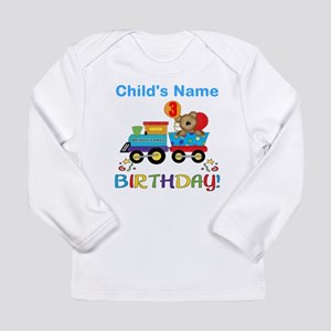 3rd Birthday Train Long Sleeve Infant T-Shirt