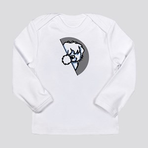 Peeking Coton de Tulear Long Sleeve Infant T-Shirt