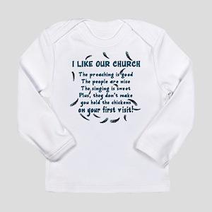 I Like Our Church Long Sleeve Infant T-Shirt