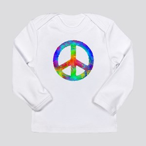 Multicolored Peace Sign Long Sleeve Infant T-Shirt