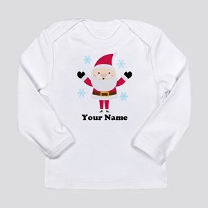 Personalized Santa Snowflake Long Sleeve Infant T-