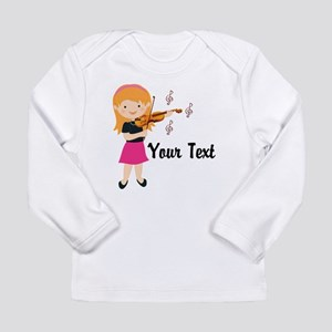 Personalized Violin Girl Long Sleeve Infant T-Shir