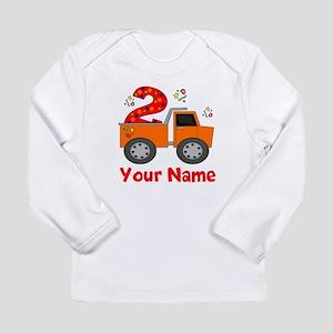 2nd Birthday Dump Truck Long Sleeve Infant T-Shirt