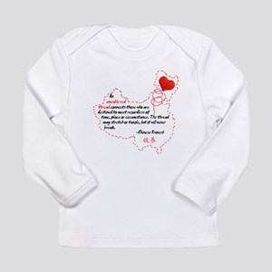 Red Thread on Light Long Sleeve Infant T-Shirt