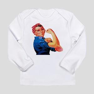 Rosie the Riveter Long Sleeve Infant T-Shirt