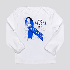 My Mom is a Survivor (blue) Long Sleeve Infant T-S