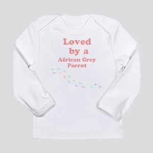Loved by aAfrican Grey Parrot Long Sleeve Infant T