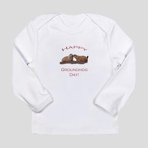 Groundhog Day Kiss Long Sleeve Infant T-Shirt