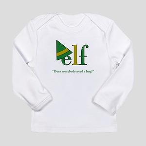Elf Need a Hug (green) Long Sleeve Infant T-Shirt