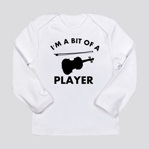 Cool Violin designs Long Sleeve Infant T-Shirt