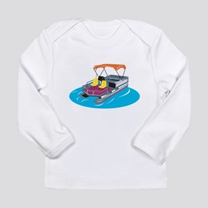 Pontoon Boat Retro Long Sleeve Infant T-Shirt